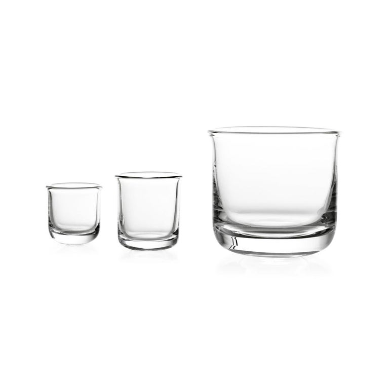 Whisky glass in blown in a mold glass. Aldo collection is a family of glassware for tasting liqueurs. The handy and slightly flared shape allows to perceive the aromas in the best way, so the moment of sipping a quality distillate becomes even more
