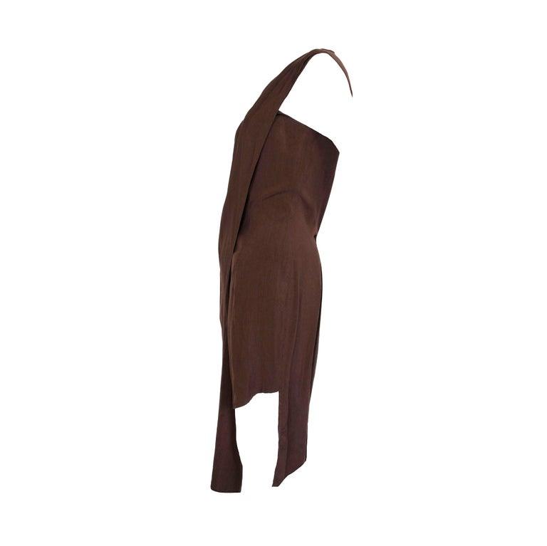 """Product details: Aldofo Dominguez - 1980s Vintage - Two-Way - Front Button / Fasten - Silk Dress  Label: Aldofo Dominguez Era: c.1980 Fabric Content: Silk Size: 40 - UK 10 Bust: 36"""" Waist: 31"""" Hips: 37"""" Side Seam: 42"""" Condition: Rare Collectors"""