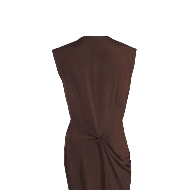 Black Aldofo Dominguez 1980s Vintage Two-Way Silk Dress