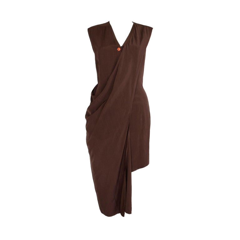 Aldofo Dominguez 1980s Vintage Two-Way Silk Dress  2