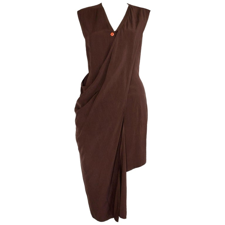 Aldofo Dominguez 1980s Vintage Two-Way Silk Dress