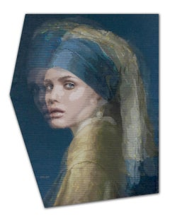 Girl With Pearl Earring - 21st Century, Contemporary Art, Figurative, Acrylics
