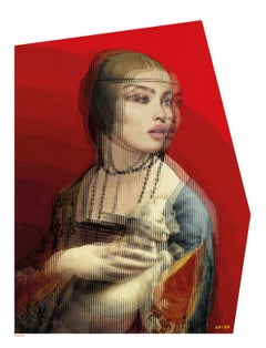 Lady With An Ermine - 21st Century, Contemporary Art, Figurative, Acrylics