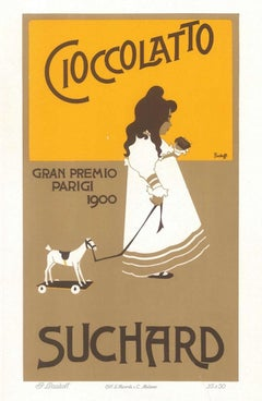 Cioccolatto - Vintage Advertising Lithograph by A. Terzi - 1900 ca.