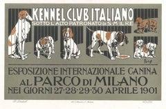 Esposizione Internazionale Canina-Vintage Adv Lithograph by A. Terzi-1900 ca.