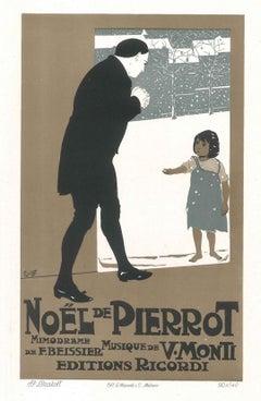 Noel de Pierrot - Vintage Advertising Lithograph by A. Terzi - 1900 ca.
