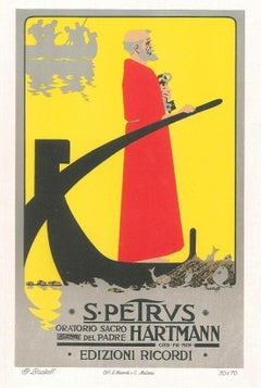 S. Petrus - Vintage Advertising Lithograph by A. Terzi - 1900 ca.