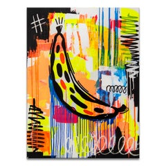 'Cambur' Wrapped Canvas Original Painting by Alejandra Linares