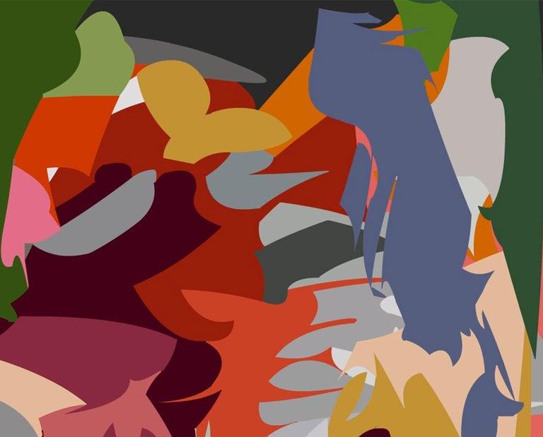 2107, Acrylic on Canvas  - Abstract Painting by Alejandra Quintanilla