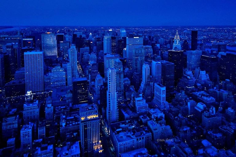 Large Photography - Rhapsody in Blue, New York City