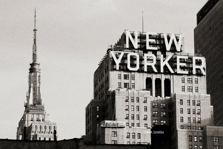 Alejandro Cerutti Black and White Photograph - New York City black and white photo - New Yorker 30x45 in. Mounted acrylic glass