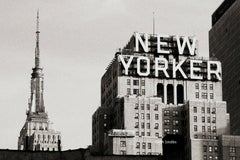 New York City landscape black and white photo - New Yorker - 24x36in. mounted