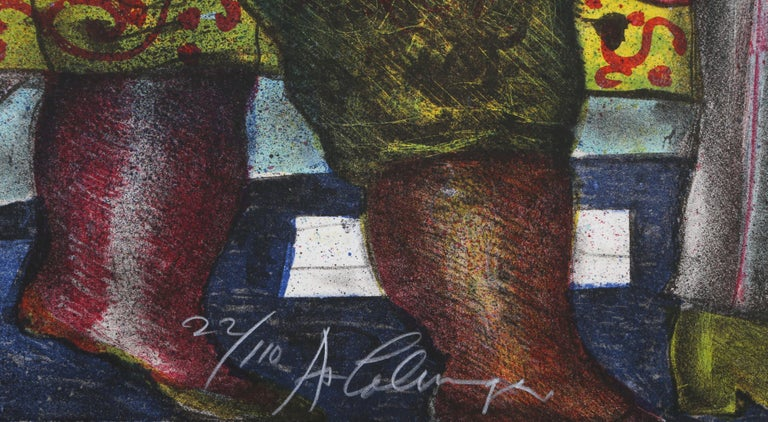 Autobus, Lithograph by Alejandro Colunga For Sale 3