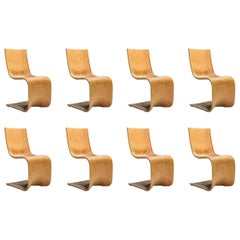 Alejandro Estrada Set of 8 Bamboo Dining Chairs for Piegatto
