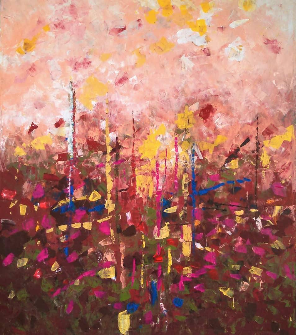 A History of the Horizon (1), 60 x 50,Cuban Artist, Abstract Landscape, b. 1986