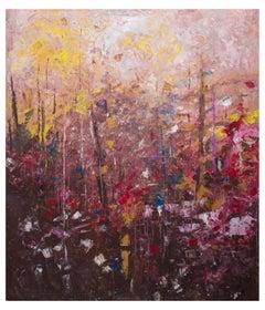 A History of the Horizon (2), Cuban Artist, Abstract Landscape, b. 1986, 60x50