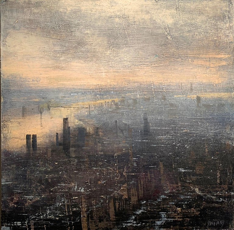 Alejandro Quincoces Landscape Painting - Siete Horas De Otoño II
