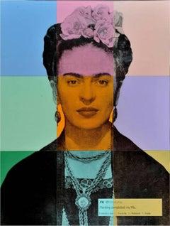 """Figurative, Contemporary, Pop Art, """"Frida Kahlo"""" by Alejandro Vigilante"""