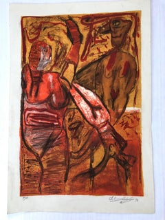 Lithograph, Alejandro Santiago