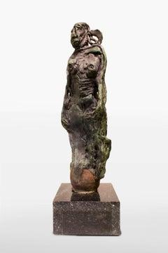 Mujer con Cantaro, Bronze Sculpture