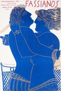 Greece : Hugging Couple (New York Coliseum) - Original lithograph, 1979