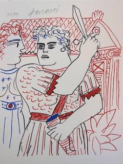 Mythology : Hercules - Original handsigned lithograph /99ex