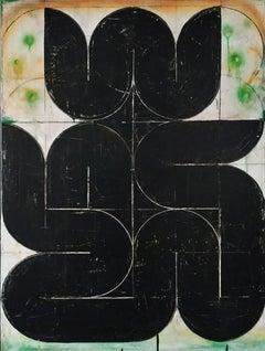 Ganesha- Abstract Art, Acrylic, Minimalist, Geometric, Contemporary Art, 21stC