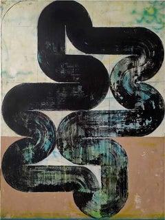 Superficial Cuts 8 - Abstract Art, Acrylic, Minimalist, Geometric, Contemporary