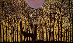 Forlorn Wolf - Contemporary Nature Animal Oil Painting