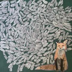 Killer Fox - Contemporary Nature and Animal Oil Painting