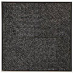 "Aleksandra Kasuba, ""One Divided By One"", Black Marble Mosaic, Signed"