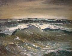 The sea. 1983. Oil on cardboard, 40x50 cm