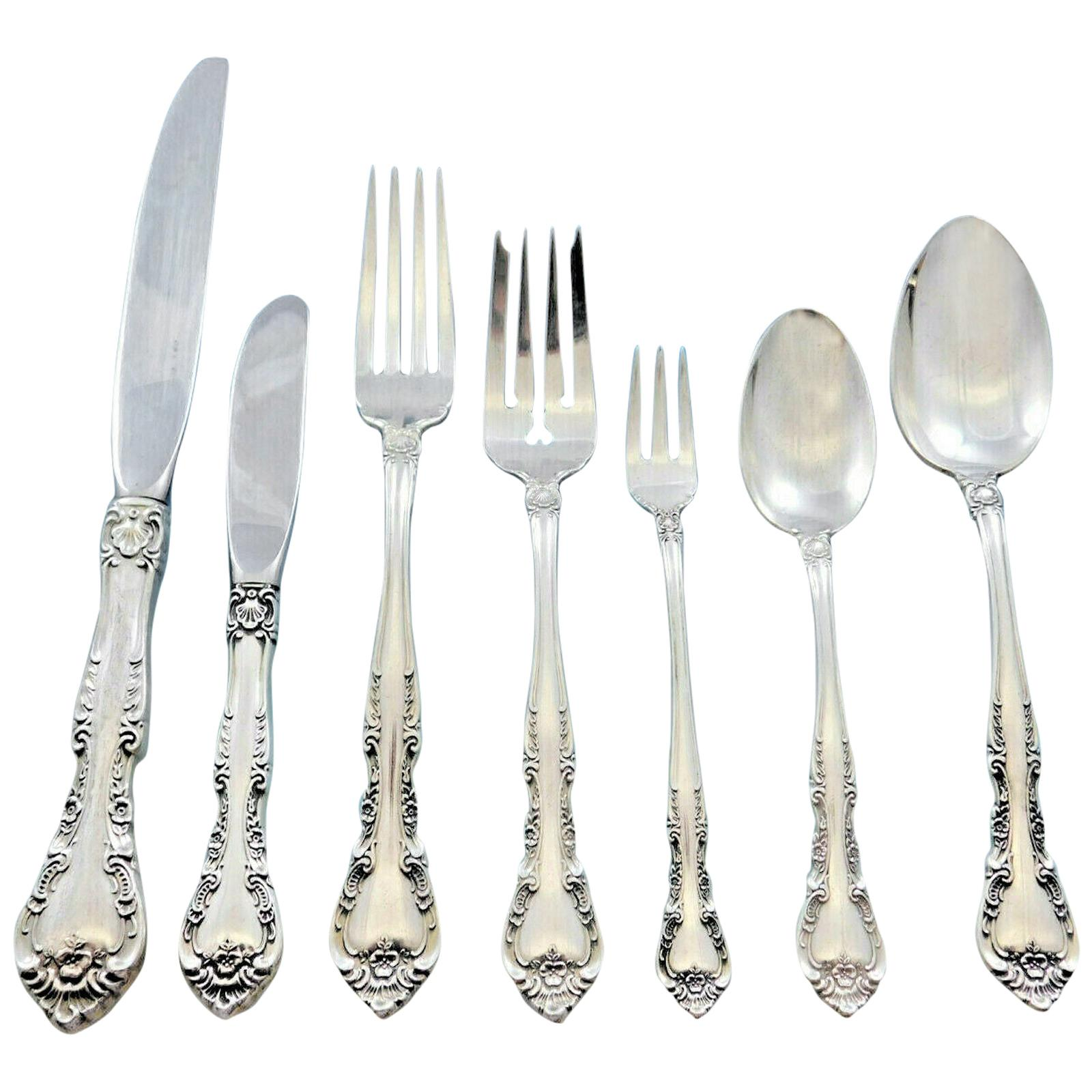 "Strasbourg by Gorham Sterling Silver Lemon Fork 4 1//4/"" Serving"