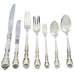 Alencon Lace by Gorham Sterling Silver Flatware Set for 8 Service 67 pieces