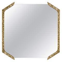Alentejo Square Mirror, Cast Brass, InsidherLand by Joana Santos Barbosa