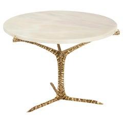 Alentejo Low Coffee Table, Brass Marble, InsidherLand by Joana Santos Barbosa
