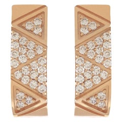 Alessa Binary Continuity Full Pave Hoops 18 Karat Rose Gold Elixir Collection