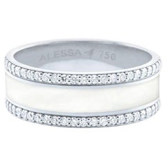 Alessa Border Pave Ring 18 Karat White Gold Spectrum Collection