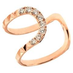 Alessa Connect Large Ring 18 Karat Rose Gold