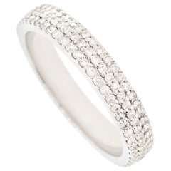 Alessa Domed Pave Ring 18 Karat White Gold Essentials Collection