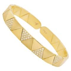 Alessa Duo Solo Full Pave Bracelet 18 Karat Yellow Gold Elixir Collection