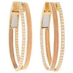 Alessa Enamel Duo Hoops 18 Karat Rose Gold Spectrum Collection