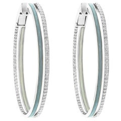 Alessa Enamel Duo Hoops 18 Karat White Gold Spectrum Collection