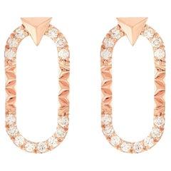 Alessa Energy Earrings 18 Karat Rose Gold Eruption Collection
