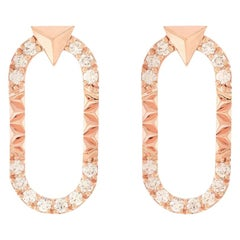 Alessa Energy Earrings 18 Karat Rose Gold Eruption Collection