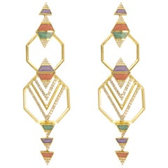Alessa Eternal Truth Earrings 18 Karat Rose Gold Elixir Collection