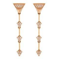 Alessa Fragment Earrings 18 Karat Rose Gold Eruption Collection