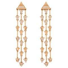 Alessa Fragment Trilogy Earrings 18 Karat Rose Gold Eruption Collection