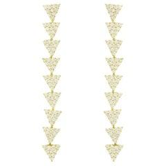 Alessa Opera Earrings 18 Karat Yellow Gold Elixir Collection