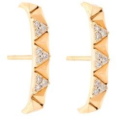 Alessa Rising Earrings 18 Karat Rose Gold Eruption Collection